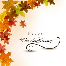 happy thanksgiving day leaves background vector free vector