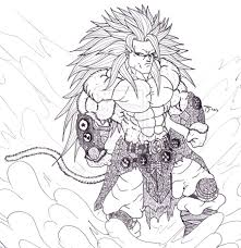 ball z coloring pages goku super saiyan 5