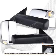 dodge ram 2500 tow mirrors dodge ram 2500 2010 2012 towing mirrors chrome power heated memory