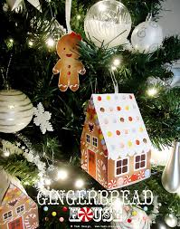 paper gingerbread house and gingerbread tree