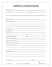 report form template report forms template child care report free