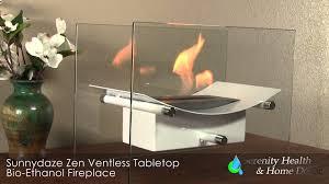 sunnydaze zen ventless tabletop bio ethanol fireplace yl 086 yl