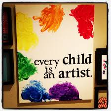 picasso quote letting your 9 month old fingerpaint u003d baby art
