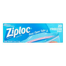 ziploc pinch seal freezer bags pint 20 ct walmart