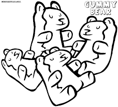 gummy bear coloring page printable gummy bear coloring pages