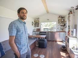 tiny home dining table bay journal article tiny home residents taking big steps to