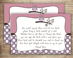 books instead of cards for baby shower poem bring a book insert card elephant baby shower chevron