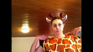 Giraffe Halloween Makeup Giraffe Costume Make Up Youtube