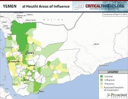 Where Is Yemen On The Map Al Houthi Areas Of Influence Critical Threats