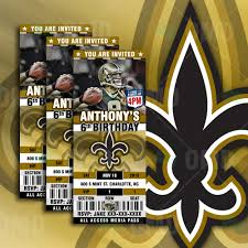 sports invites new orleans saints ultimate party package