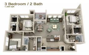 apartments 3 bedroom 3 bedroom apartments 3d