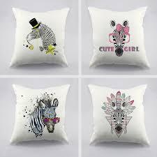 coussin design pour canape zèbre artiste design de mode imprimé housse de coussin pour canapé
