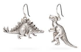 dinosaur earrings firefly my land mismatched dino earrings thinkgeek