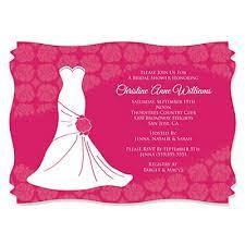 custom bridal shower invitations wedding dress pink personalized bridal shower invitations
