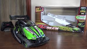 tyco rc grave digger monster truck new bright trak attak review and run youtube