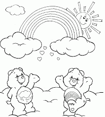 rainbow care bears coloring pages rainbow coloring pages