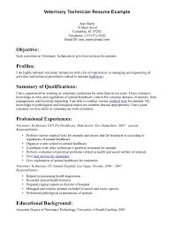 Technician Resume Examples by Veterinary Technician Resume Sample Haadyaooverbayresort Com