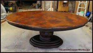 Copper Dining Room Tables Copper Dining Room Tables Oval Dining Table Wood Pedestal Base