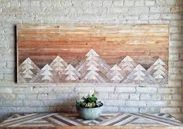 these gorgeous reclaimed wood wall décor pieces are geometric