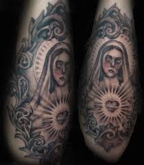 virgin mary tattoo by tainted orchid on deviantart