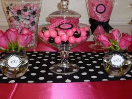 Pink And Black Candy Buffet by 88 Best Black U0026 Pink Parisian Shower Images On Pinterest Parties