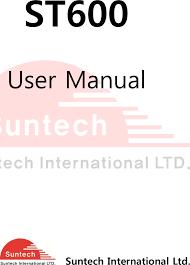 st600 tracker user manual 600 suntech international ltd
