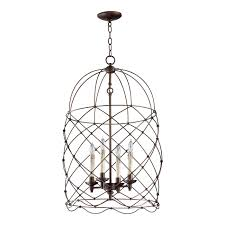 cyan design 04756 adele 4 light foyer pendant in oiled bronze