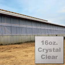 clear agri barrier curtain 16 oz dairy barn curtain
