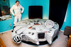 from the makers of the hamburger bed comes a millennium falcon bed