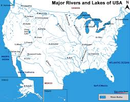 america map with rivers us rivers enchantedlearningcom united states rivers and lakes map