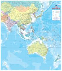 West Asia Map by Hema Item Asia West Pacific Laminated Wall Map Hema Maps