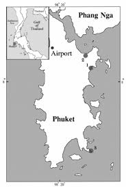 Phuket Map Map Of Phuket Island Shows The Stranding Area In The North At