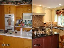 Kitchen Before And After Makeovers Cheap Kitchen Remodel Before And After Outofhome