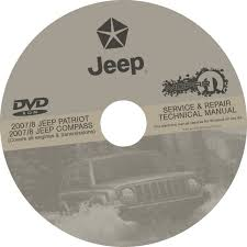 jeep repair manual jeep patriot and compass 2007 2008 service repair manual dvd