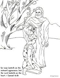 King David Coloring Pages Samuel Coloring Pages