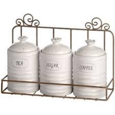 kitchen tea coffee sugar canisters ceramic farm design cockerel tea coffee sugar canisters set
