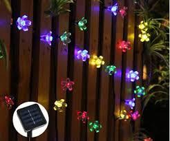solar led christmas lights outdoor 7m 50leds peach flower solar outdoor light led garden super bright