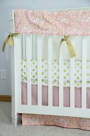 Custom Crib Bedding Sets The Eloise Collection Blush Pink Coral And Metallic Gold