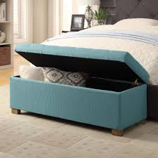 amazon com homepop laguna large tufted storage bench blue cell