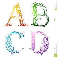 decorative letter font type royalty free stock photos image