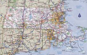 Massachusettes Map by Large Detailed Roads And Highways Map Of Massachusetts State With