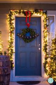 Christmas Outdoor Entryway Decorations by Christmas Home Tour Outdoor Entryway