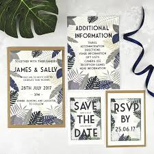 Wedding Stationery Sets Tropical Botanical Wedding Stationery Set By Talk Of The Town