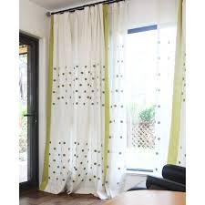 Black Polka Dot Curtains Soft Green White Cotton Linen Polka Dot Curtains