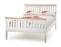 Bed Frame Foot Serene Grace 4ft Small White Wooden Bed Frame With High