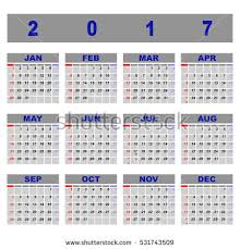 beautiful demo 2017 calendar template stock stock vector 531743500