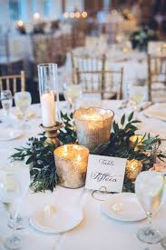 reception centerpieces wedding table decor with candles chic ideas using