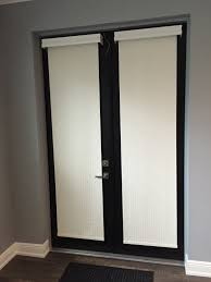 blackout roller shades for french doors give privacy when needed