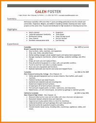 Custodial Engineer Resume Cleaning Services Resume Template Examples