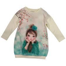 designer childrenswear mayoral graphic print fleece dress baby from designer